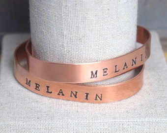 Melanin Copper Bangle