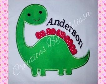 Dinosaur Shirt/ Boys Dinosaur Shirt/ Boys Valentine Shirt/ Girls Dinosaur Shirt/