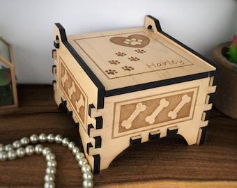 Dog Keepsake Box - Pet Keepsake Box - Dog Box - Keepsake Box - Dog Memorial Box - Pet Memorial Box - Dog Jewelry Box - Wood Keepsake Box