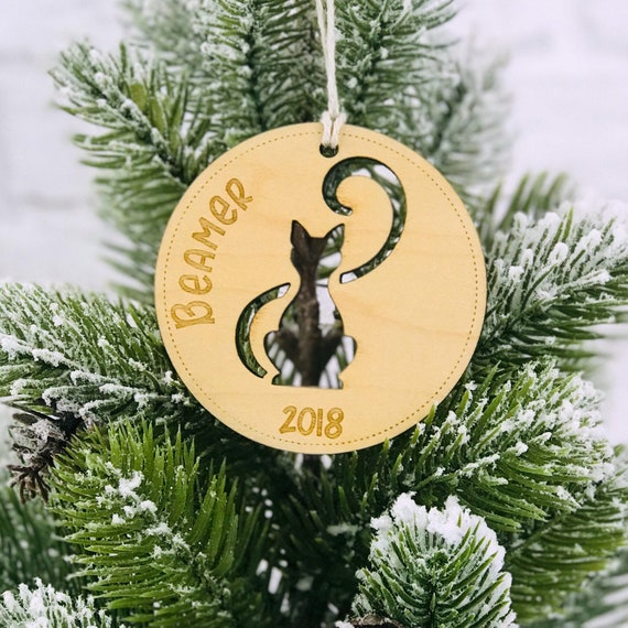 image 0 - Cat Ornament Personalized Cat Ornament Christmas Ornament Etsy