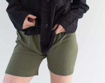 Vintage 22-28 Waist Olive Green Sweat Shorts | Made in USA Soffe | XS S |