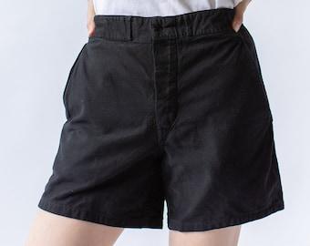 Vintage Black Denim Shorts | Overdye Workwear | 28 29 30 31 32 Waist