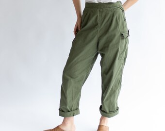 Vintage 23 Waist Cargo Army Pants | Ripstop Fatigues | Military Trousers | XS XXS |