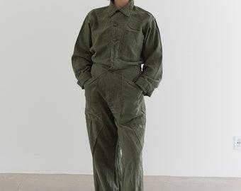 Vintage Olive Green Coverall | Green Army Jumpsuit | Flight Suit Studio Ceramic | Boilersuit | J011