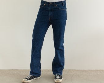 Vintage 32 33 Waist Levi 517 Jeans | Kick flare Jeans | Levi Boot Cut Denim | Made in USA |