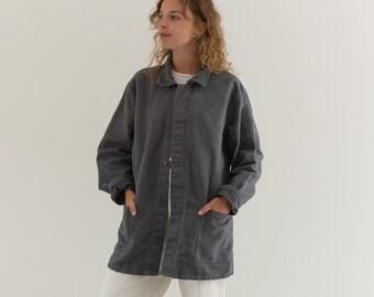 Vintage Grey Moleskin Work Coat | Unisex Cotton Jacket | Vintage Workwear | Made in Italy | M | IT045