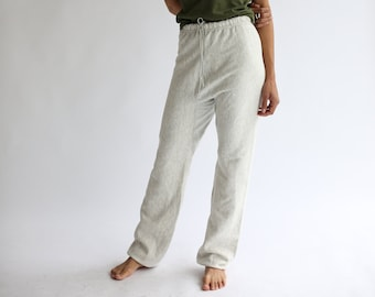 Vintage 23-28 Waist Heather Grey Sweat Pants | Vintage Joggers | Cotton Blend SweatPant | Athleisure | Yoga Pant Exercise | Made in USA