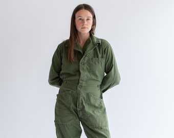 09ac1c0b2d28e Vintage Olive Green Coverall | Green Army Jumpsuit | Flight Suit Studio  Ceramic Painter Onesie