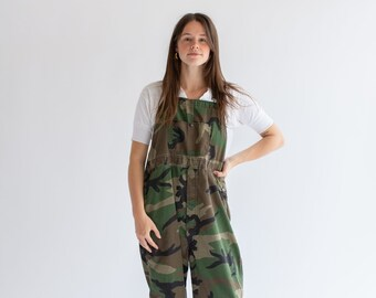 9076277d2c34c Vintage Camo Green Tie Overalls | Camouflage Dungarees | M L