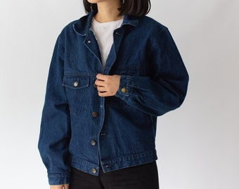 Vintage Dark Denim Jacket | Made in Italy | Deadstock |