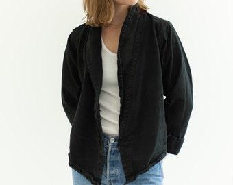 Vintage Black Point Crop Coat | Crop Jacket Bolero | S |