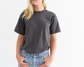 Stone Grey Crew T Shirt | Crewneck Tee | Slate Gray | Screenstars Fruit of the Loom | S |