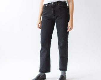 Vintage 32 Waist Levi 501 Jeans   USA Made Black jeans   Straight Leg   100% Cotton  
