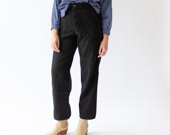 Vintage 26 27 28 29 30 Waist Overdye Black 70s Army Pants | Vietnam Utility Fatigue Pant | Trouser | FB01