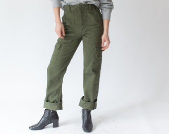Reserved for Nhatrang* Vintage 30x34 Waist OG 107 Style Slim Olive Green Army Pants Trousers | Cargo Pocket 80s Utility Fatigues