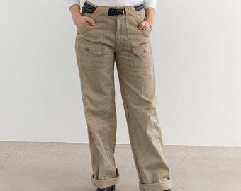 Vintage 32 33 High Waist Tan Painter Pants | Cotton Utility Trouser |