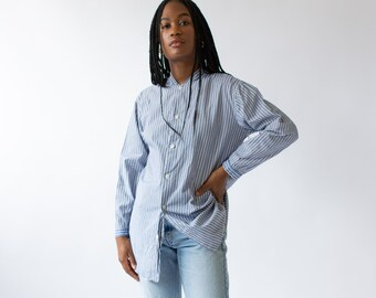 Vintage Blue White Stripe Shirt | Woven Workwear |