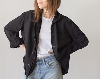 Vintage Overdye Black Flannel Shirt Jacket | Pajama shirt | Pyjama Blouse | S M L XL
