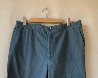 Vintage 38 Waist  x 33 Inseam Teal Cotton Twill Chinos Pants | TC14