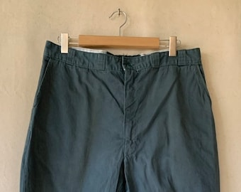 Vintage 36 Waist x 34 Inseam Teal Cotton Twill Chinos Pants | Light Staining | TC16