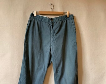 Vintage 32 Waist Teal Cotton Twill Chinos Pants | Marks | TC37
