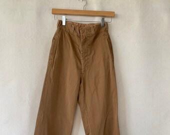 Hanger Sale Final SALE   Vintage 25 Waist Almond Brown Khaki Twill Chinos   Pant