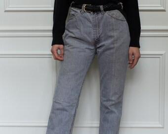Vintage 32 33 Waist Grey Levi 509 Jeans | Straight Leg denim Jeans |
