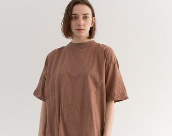 Vintage Mauve Pink Tee T Shirt | 100% Cotton Crew Neck | Cobra | M |