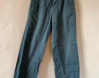 Hanger Sale FINAL Sale   Vintage 26 Waist Teal Cotton Twill Chinos Pants   TC36