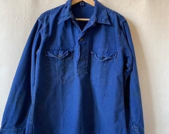Hanger Sale Final Sale   Vintage Denim Blue Popover Shirt   M
