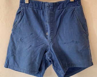 Hanger Sale FINAL Sale | Vintage 30 Waist Blue Denim Shorts | DS22