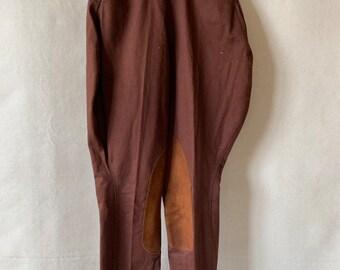 Hanger Sale Final Sale   Vintage 26-29 Waist Brown Tan Riding Pants   Leather Strap Trouser   Equestrian Pant   Breeches Jodhpur