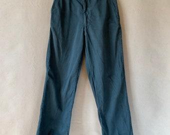 Hanger Sale FINAL Sale   Vintage 28 Waist Teal Cotton Twill Chinos Pants   TC13