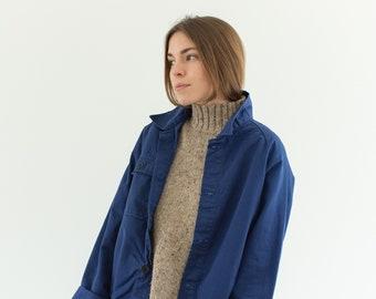 Vintage Navy Blue Work Jacket | Single Pocket Raglan Sleeve | Made in Italy Coat | M | IT158