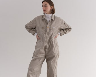 Vintage Stone Beige Coverall | Lee Jumpsuit | Flight Suit Studio Ceramic Painter Onesie | Boilersuit | M L