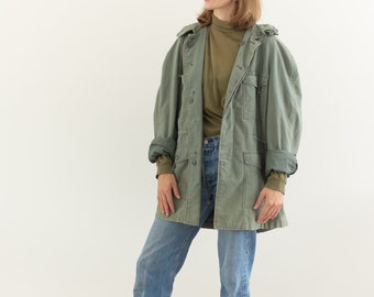 Vintage Sage Green Military Jacket | Cotton Sateen USAF Olive Green Parka | | M
