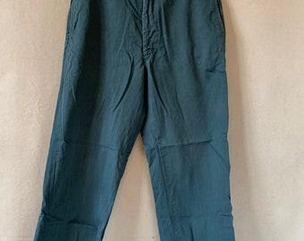 Vintage 31 Waist Teal Cotton Twill Chinos Pants | TC28