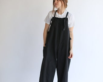 PRE-ORDER Vintage Overdye Black Tie Overalls | 1940s usn ww2 US Navy Deck Naval Dungarees | Studio Coverall Artist Ceramic Jumpsuit