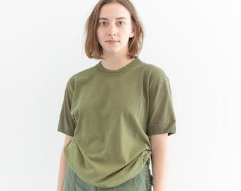 Vintage Sage Green T-Shirt | 80s Worn Tee Shirt | 100% Cotton | S |