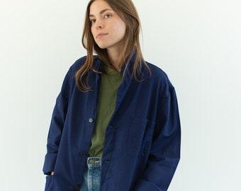 Vintage Navy Blue Work Chore Jacket | Unisex Cotton Utility Work Coat | Made in Italy | M | IT185