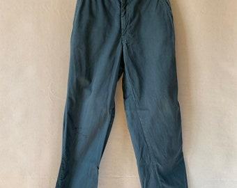 Hanger Sale FINAL Sale   Vintage 28 Waist Teal Cotton Twill Chinos Pants    TC12