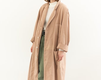 The Corozo Shop Coat in Dusty Pink | Vintage Overdye Chore Trench Jacket | Painter Duster | S M L XL