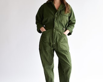 258232bc3f0a Vintage Olive Green Coverall
