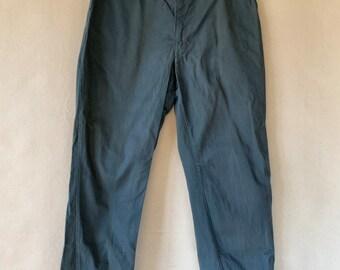 Vintage 36 Waist Teal Cotton Twill Chinos Pants | Light Staining | TC16