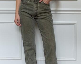 Vintage 32 Waist Grey Green 509 Levi Denim   Made in USA   Levis Jeans  