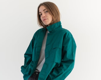 Emerald Two Pocket Work Jacket   Unisex Cotton Utility Work Jacket   Made in Italy   M L   IT018
