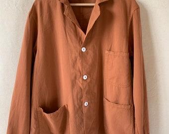 Hanger Sale FINAL Sale   M L   Vintage Overdye Rust Orange Chore Coat