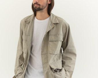 Vintage Stone Beige Cotton Ripstop Lightweight Jacket | L |