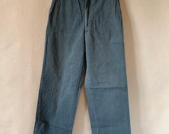 Vintage 28 Waist Teal Cotton Twill Chinos Pants | TC35