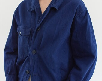 Vintage Navy Blue Work Jacket | Single Pocket Made in Italy Coat | M | IT157
